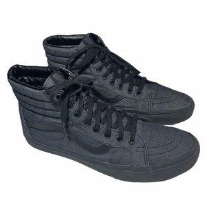 Vans Hightop Gray Black Sneaker Sz 11